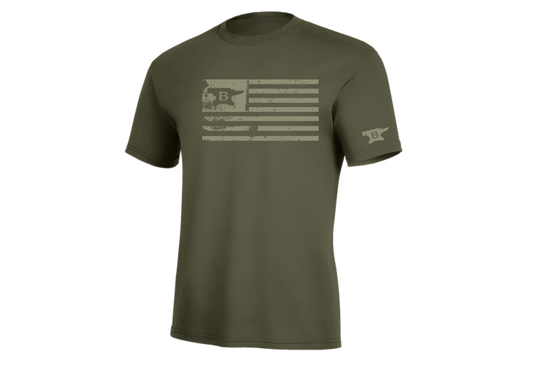 Men's OD Green Tee - United States of Buck